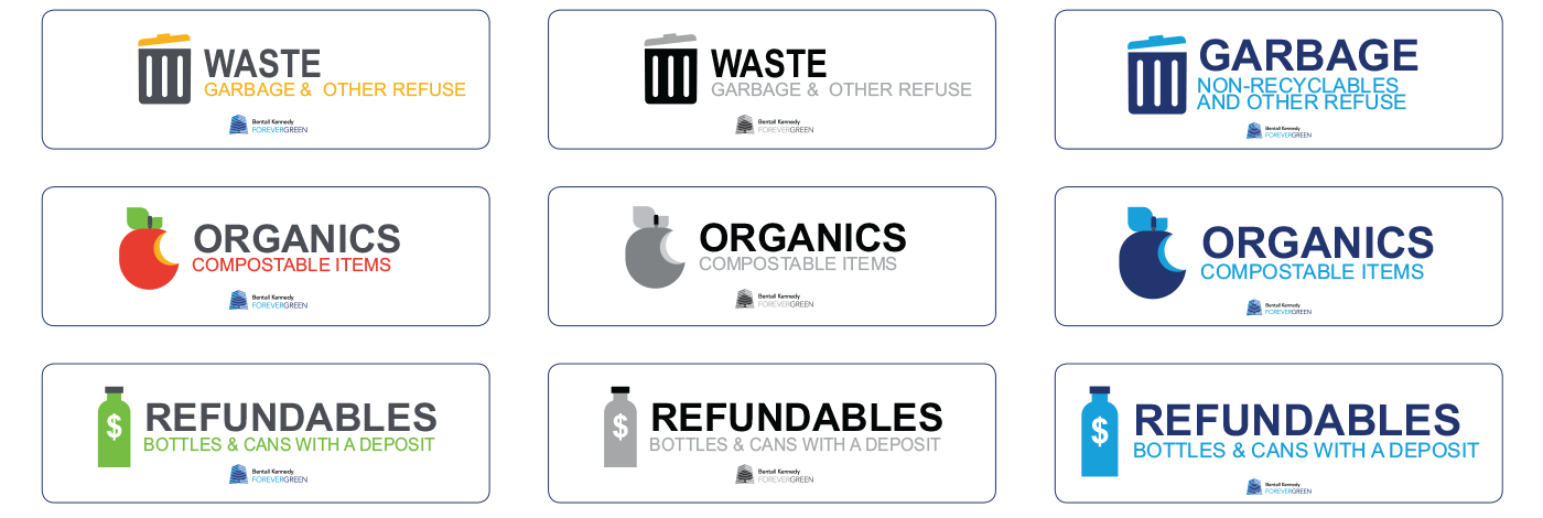 Bentall Kennedy Information Design for Recycling Program