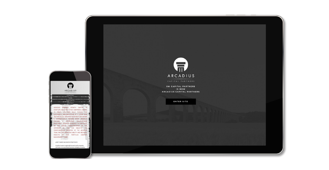 Arcadius Capital Partners website - mobile and responsive