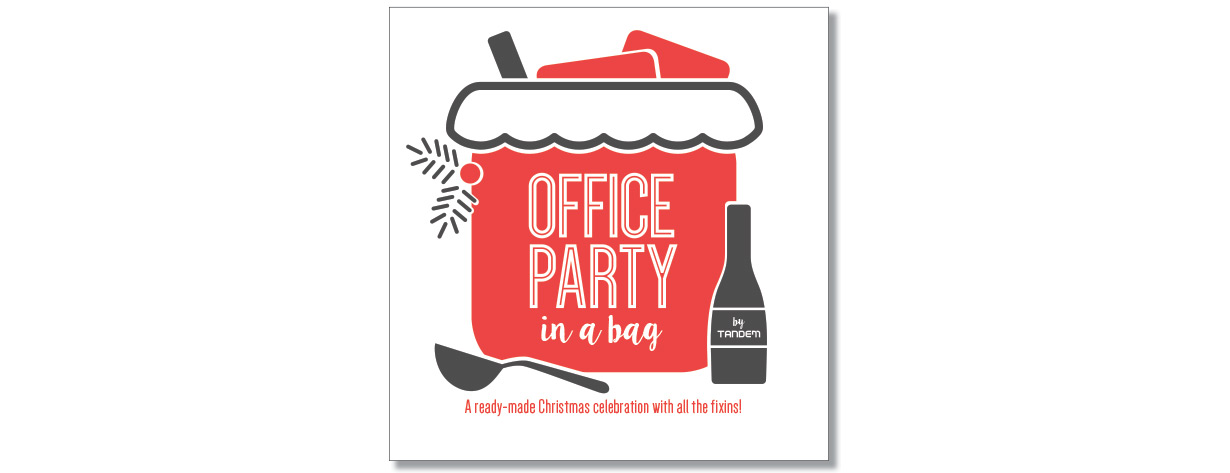 Office Party in a Bag promo booklet cover by Tandem Marketing Design